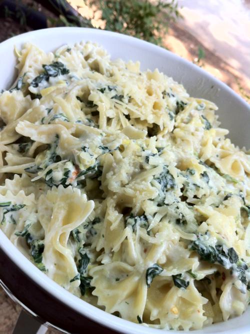 Spinach Artichoke Pasta | A Life of Flavor